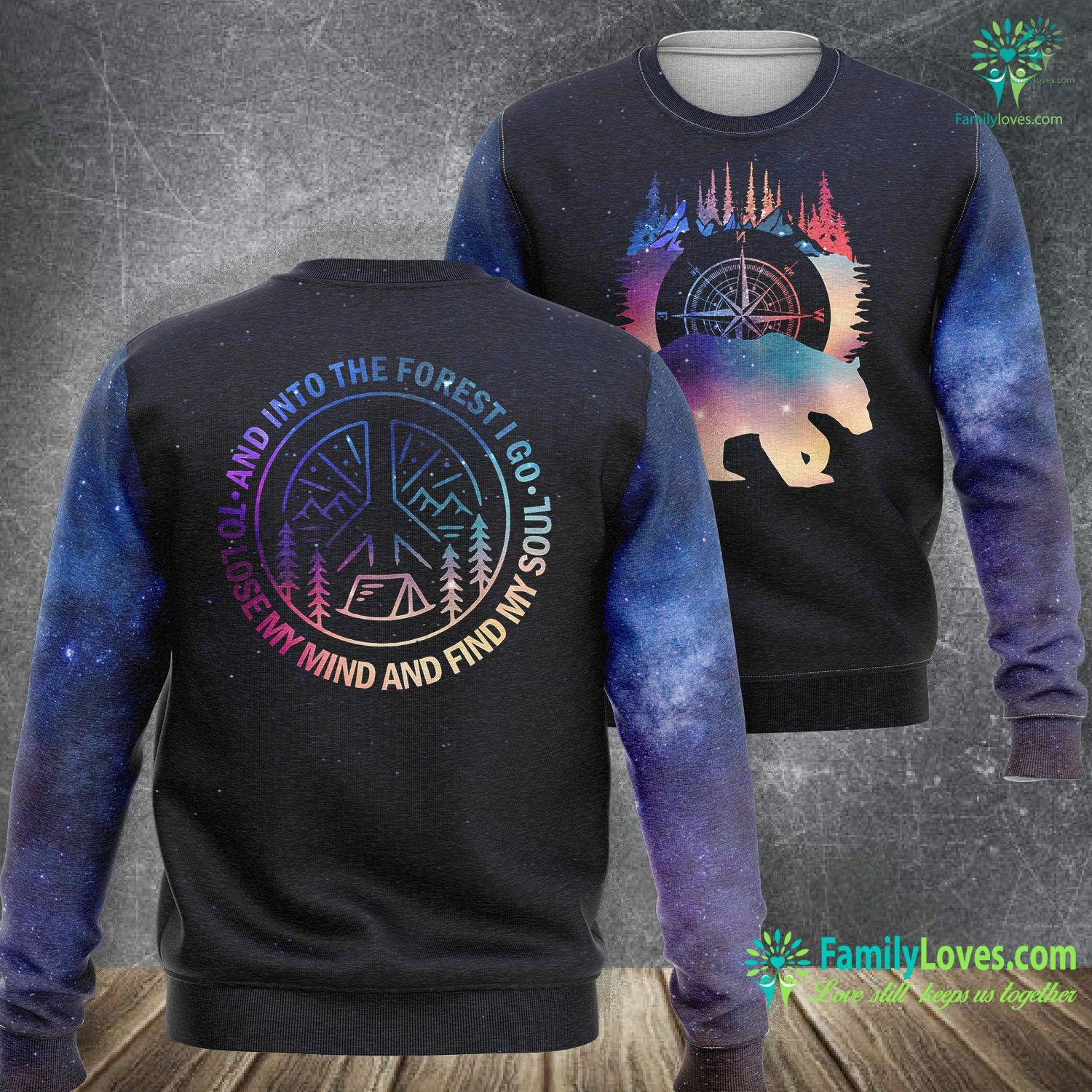 Camping Find Soul Bear 3D All Over Printed Sweatshirt Familyloves.com