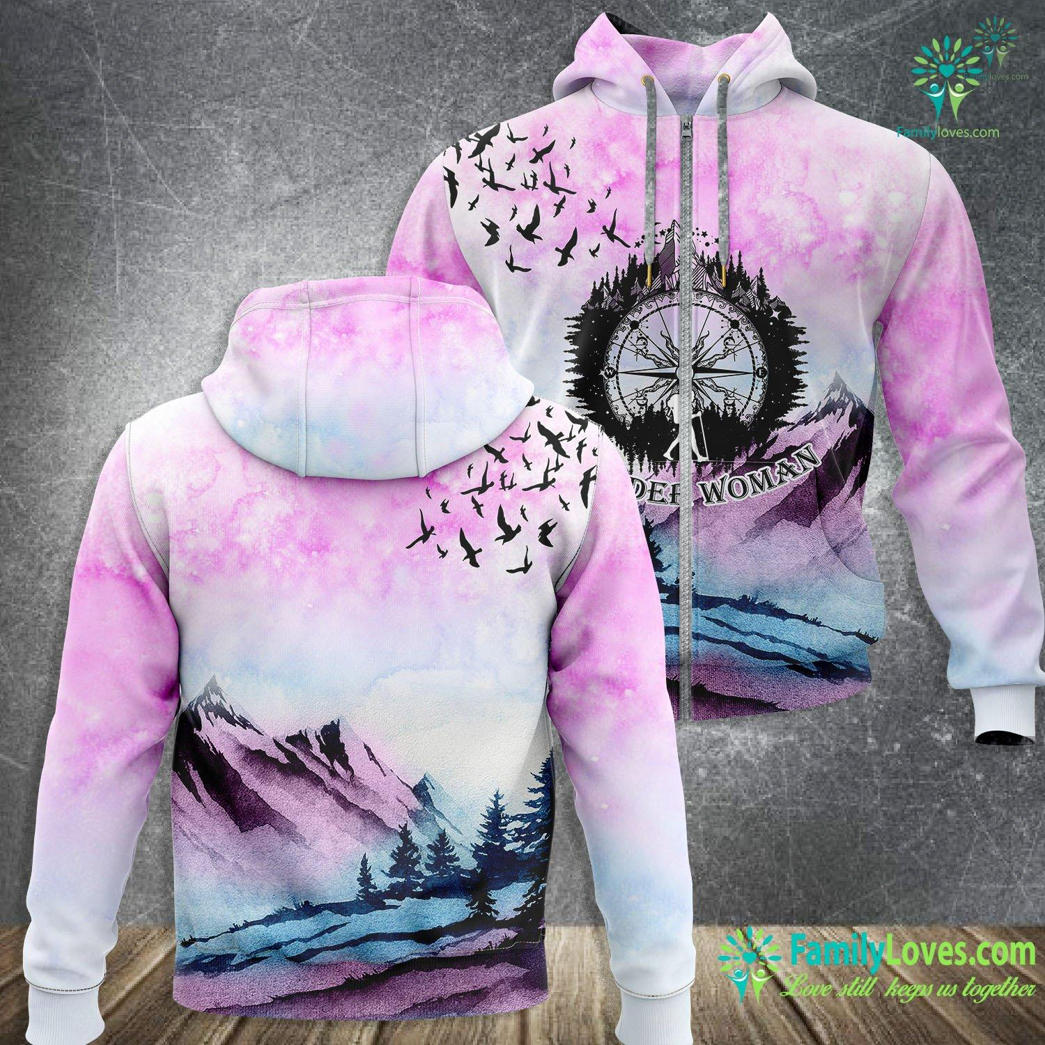 Camping Wander Woman 3D All Over Printed Zip Hoodie Familyloves.com