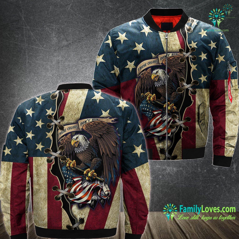 Eagle Us Veteran 3D All Over Printed Bomber Jacket Familyloves.com