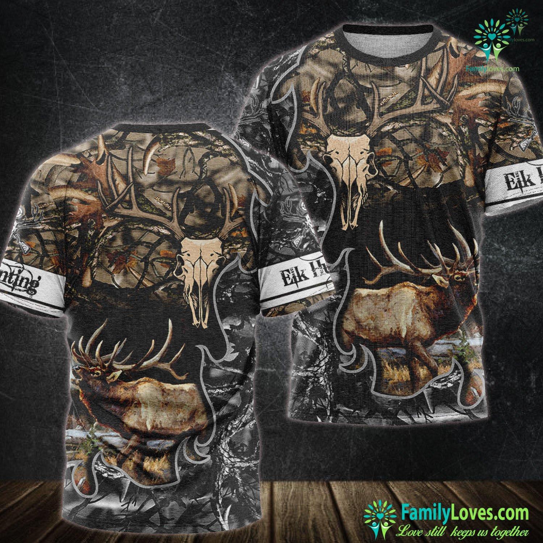Hunting Animals Deer 3D All Over Printed Tshirt Familyloves.com
