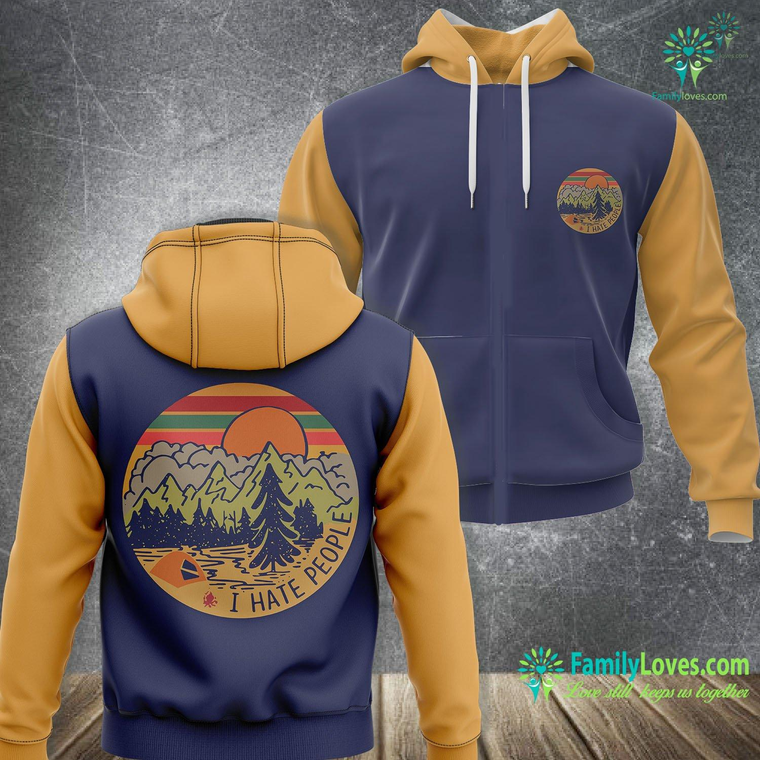 I Hate People Camping 3D All Over Printed Hoodie Familyloves.com