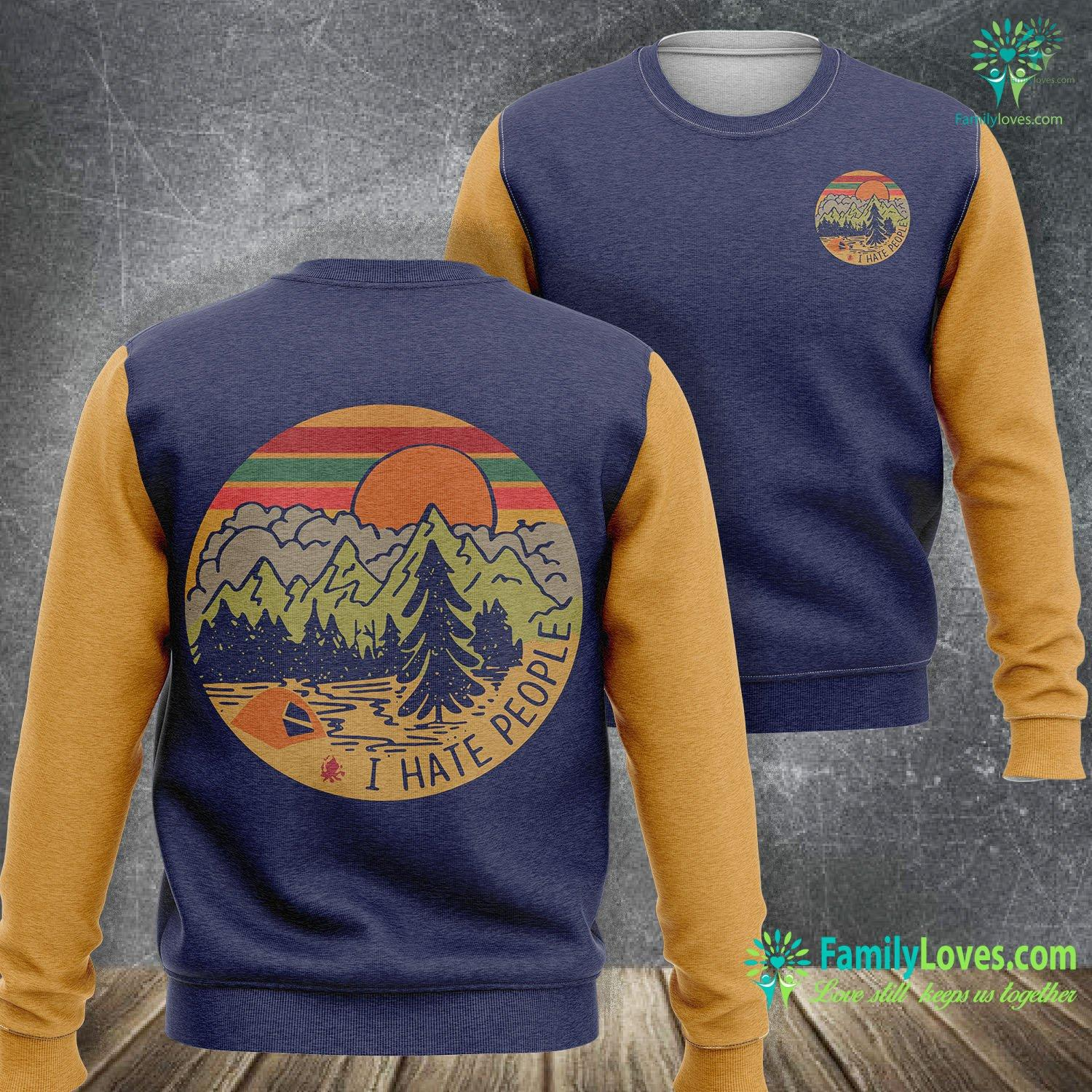 I Hate People Camping 3D All Over Printed Sweatshirt Familyloves.com
