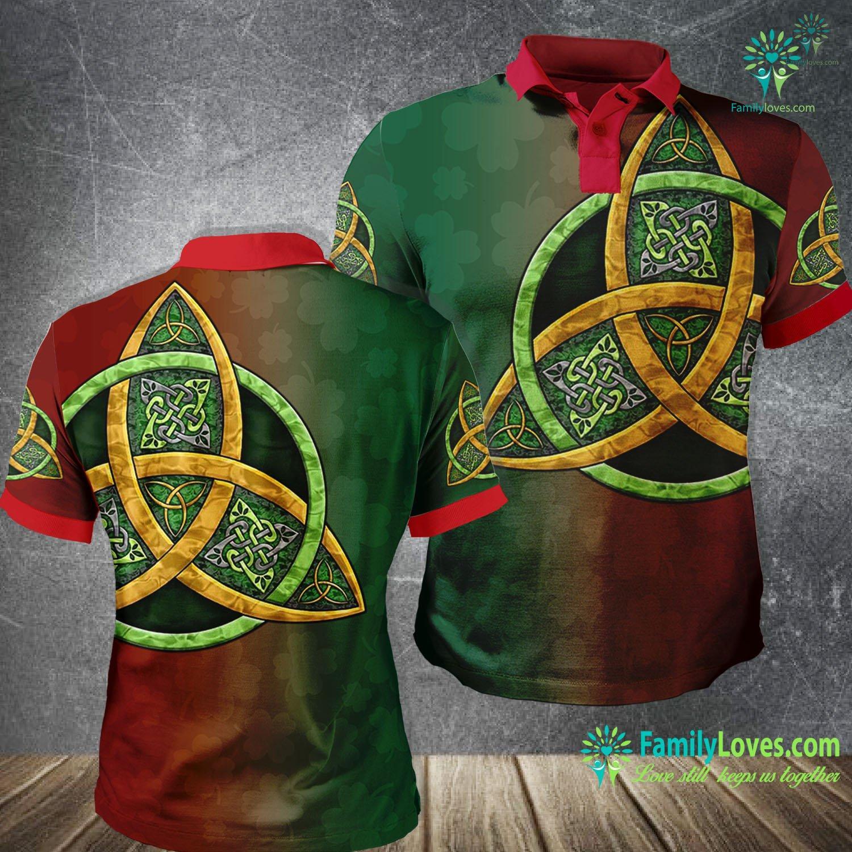 Irish St.Patrick Day 3D All Over Printed Polo Shirt Familyloves.com