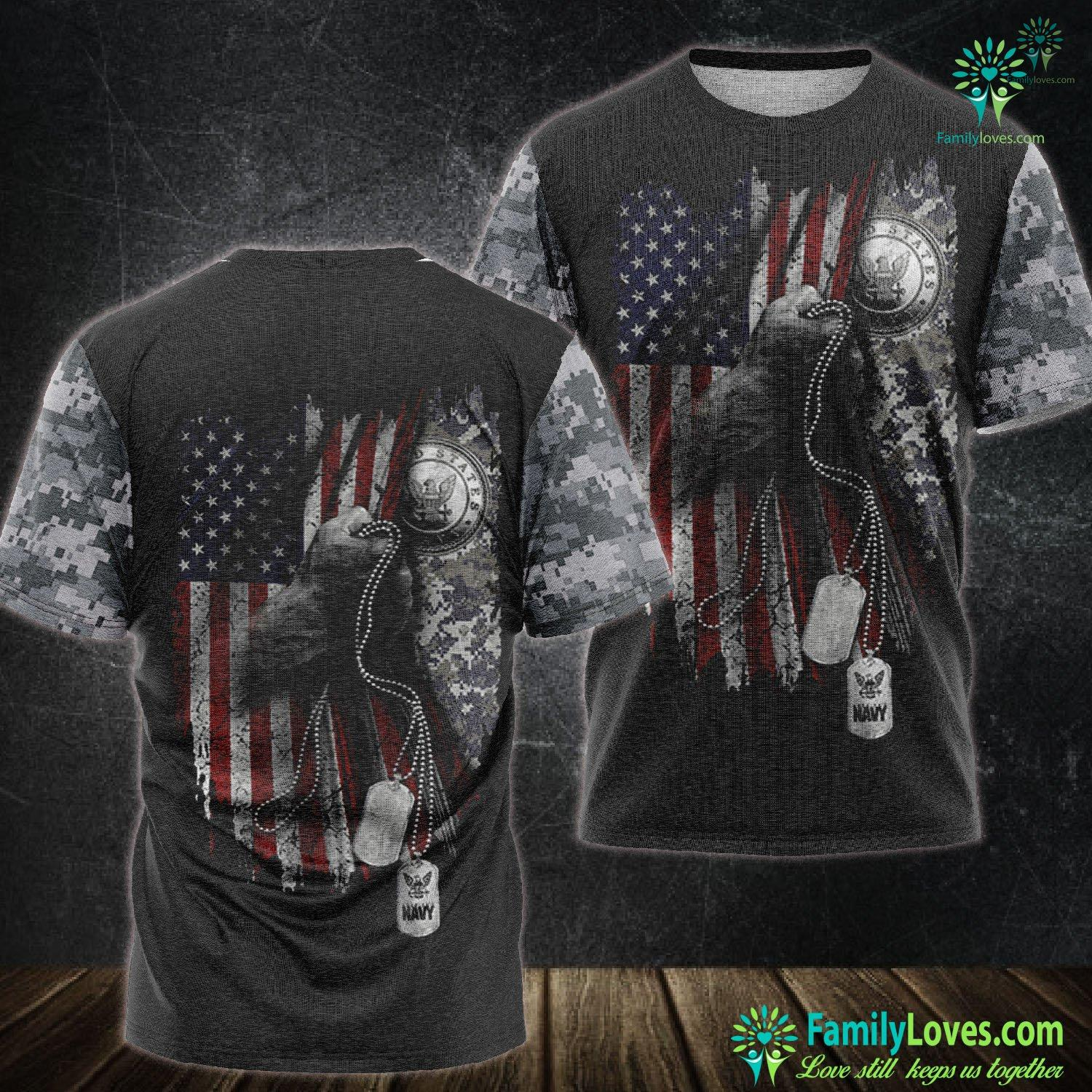 Soldier Us Navy 3D All Over Printed Tshirt Familyloves.com