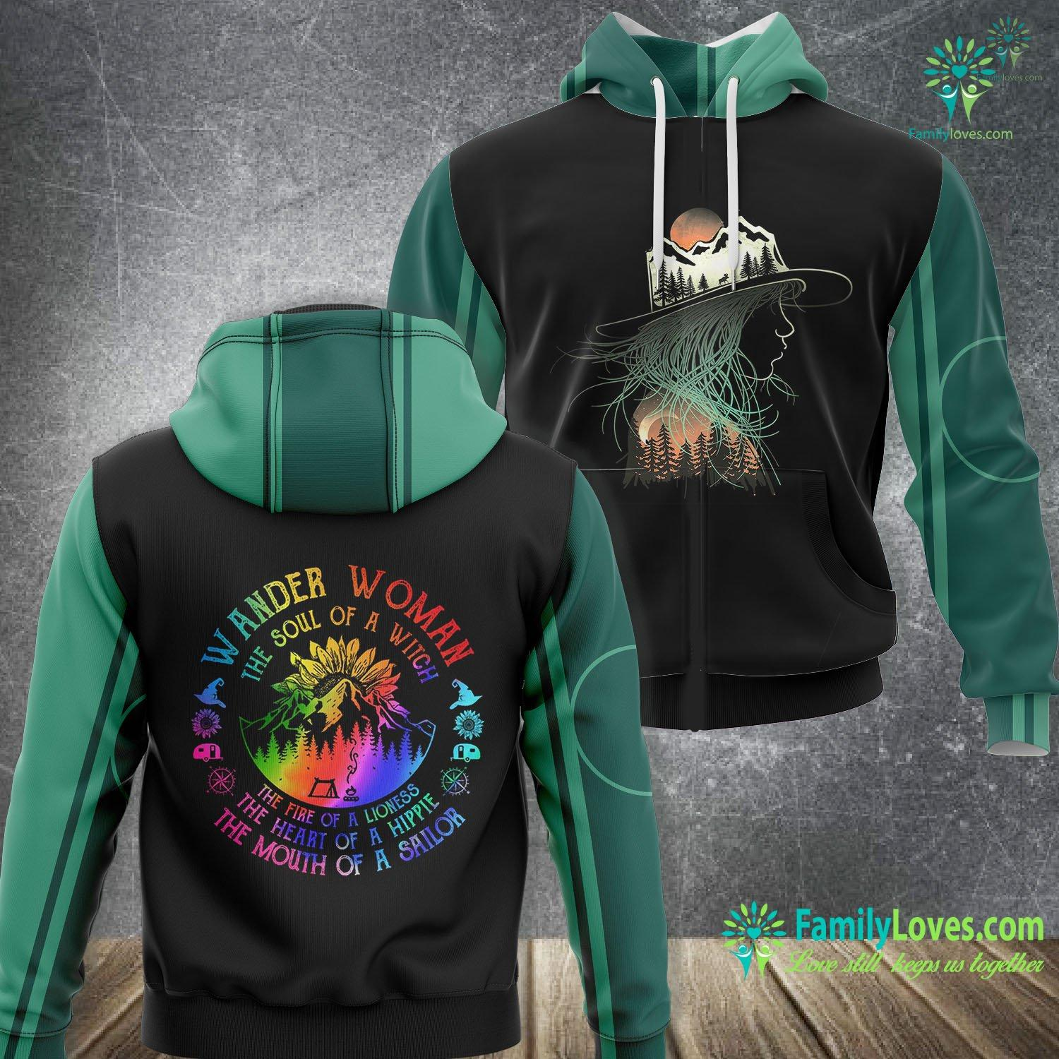 The Soul Of A Witch Camping 3D All Over Printed Hoodie Familyloves.com