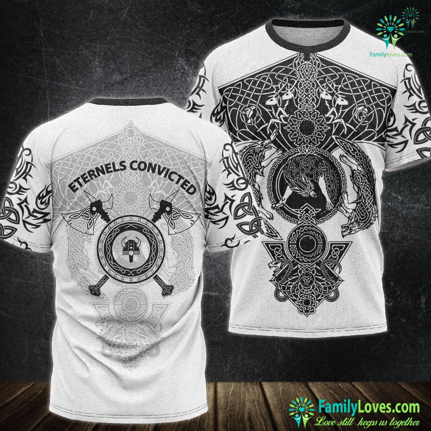 Viking Eternels Convicted 3D All Over Printed Tshirt Familyloves.com