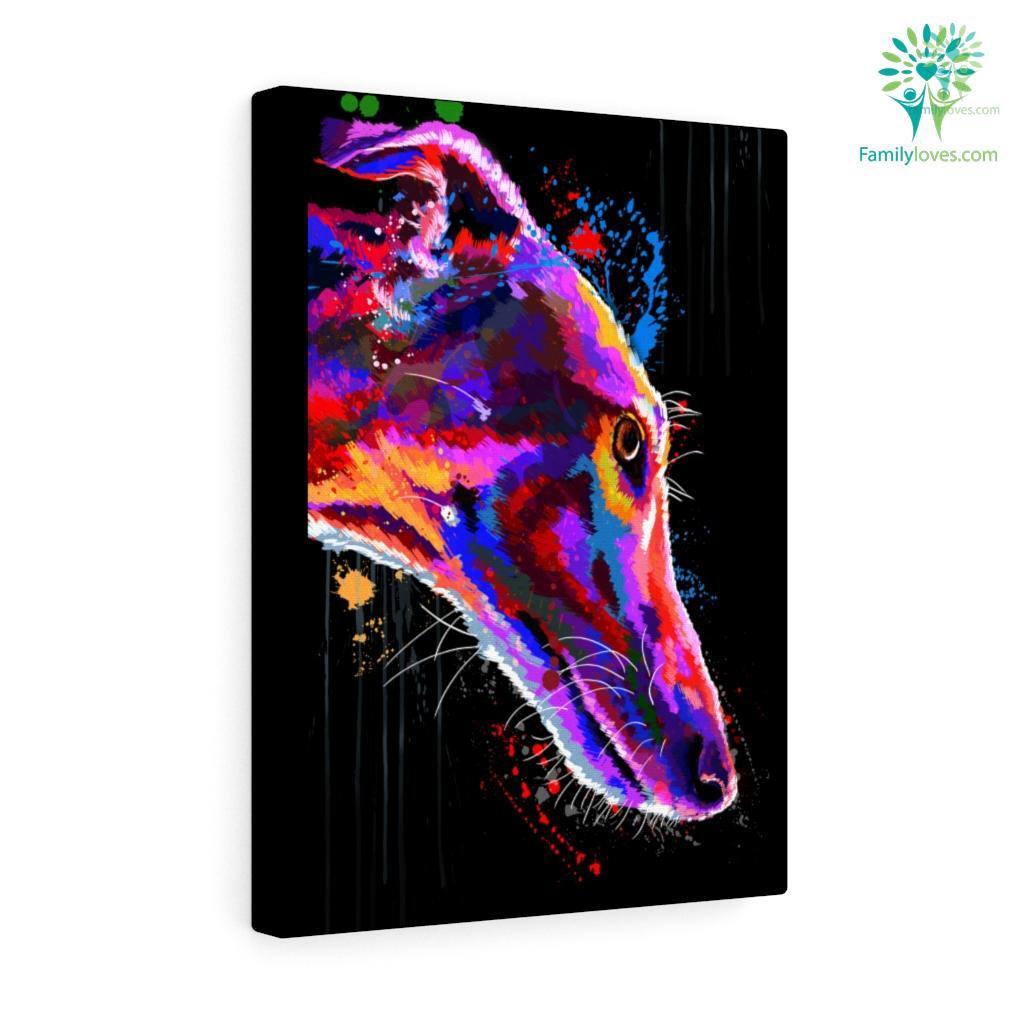 Greyhound Dog colorful canvas 2 Familyloves.com