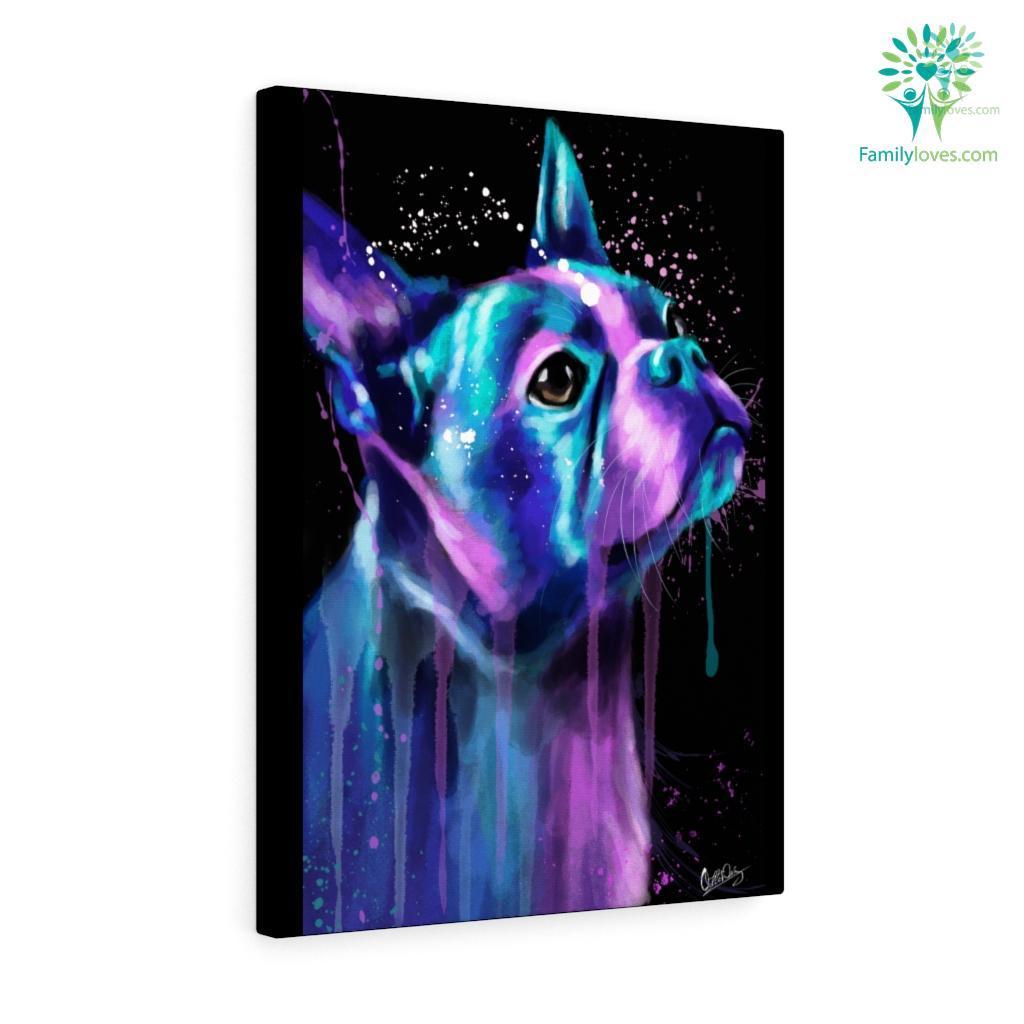 Boston Terrier canvas Familyloves.com