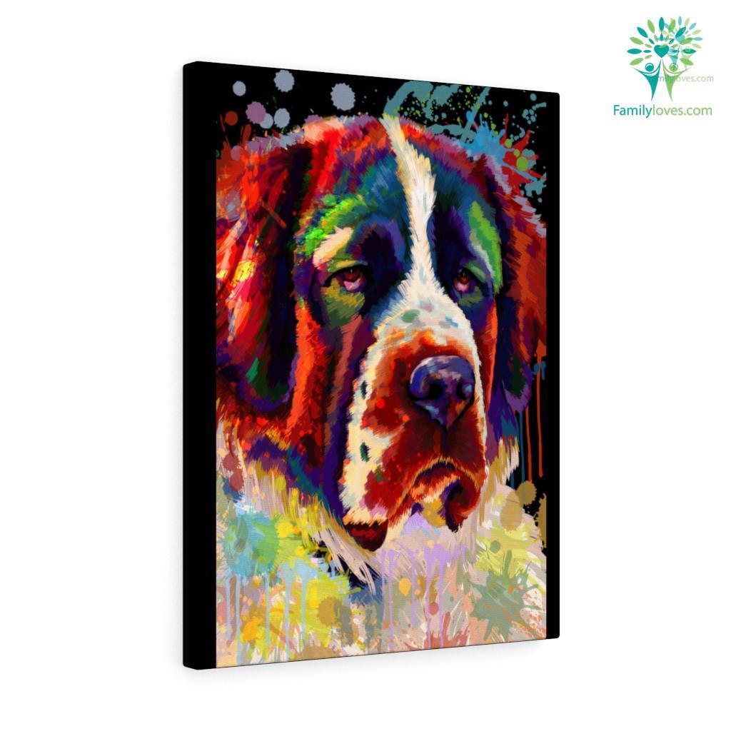 Bernard Dog colorful canvas Familyloves.com