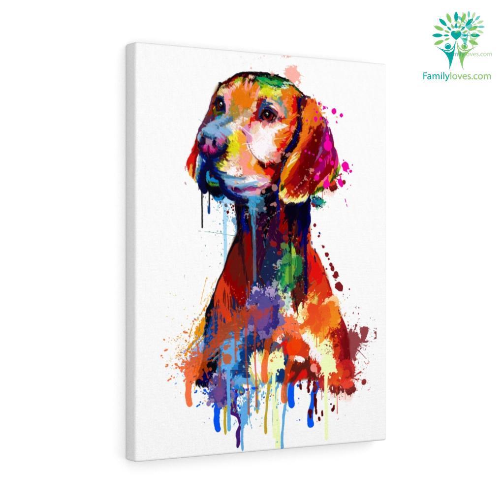 Vizsla Dog colorful canvas Familyloves.com