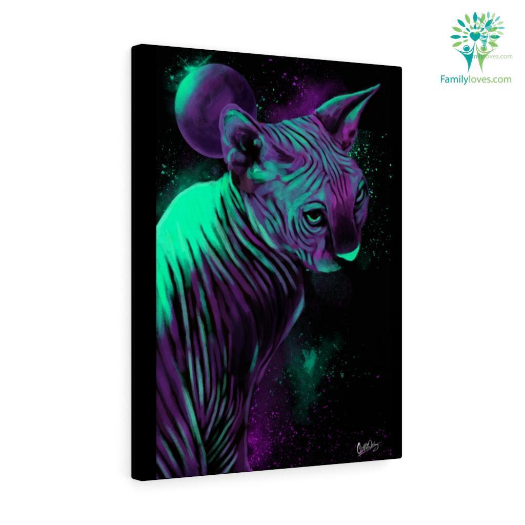Sphynx Cat colorful canvas Familyloves.com
