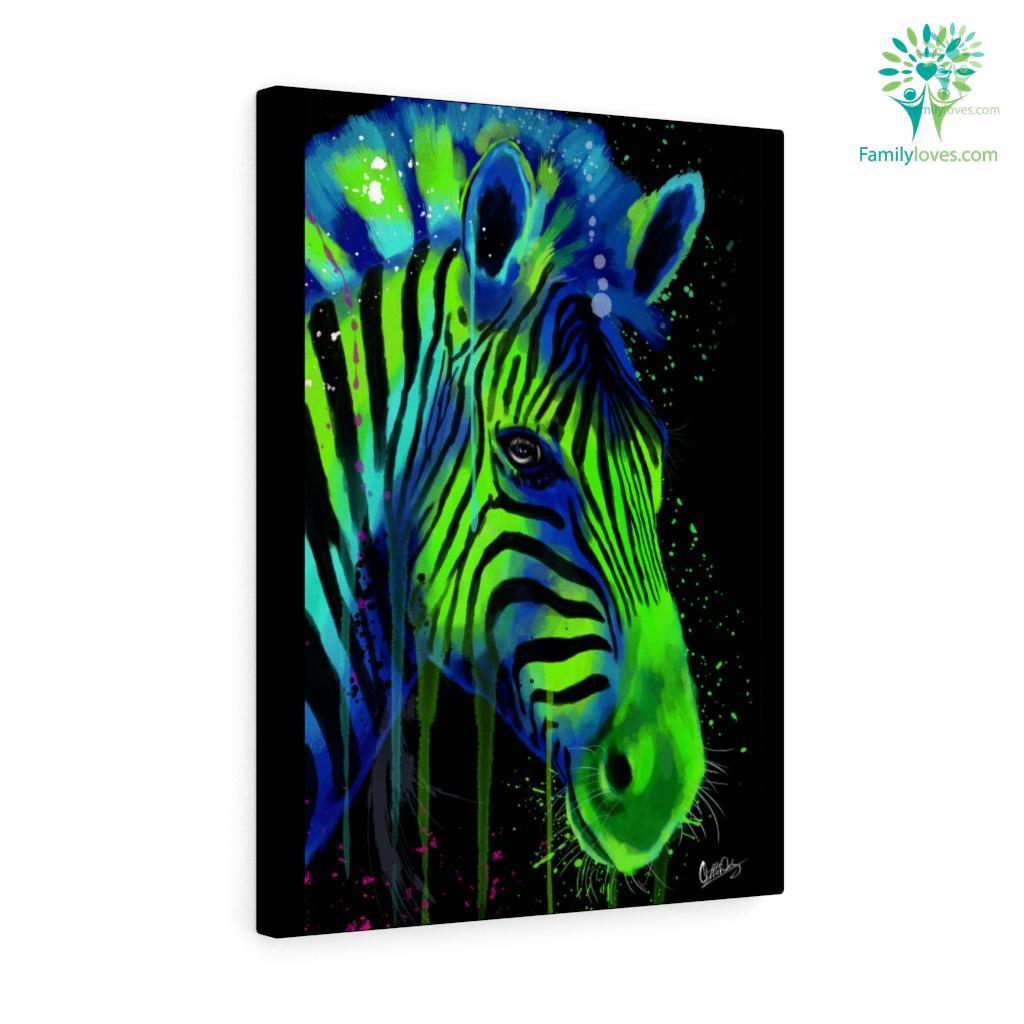 Zebra colorful canvas 2 Familyloves.com