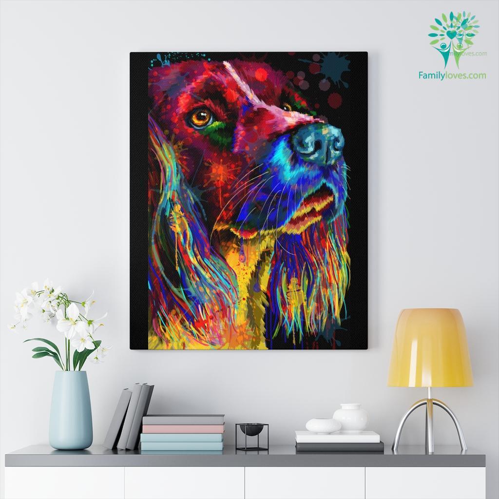 English Springer Dog colorful canvas 2 Familyloves.com
