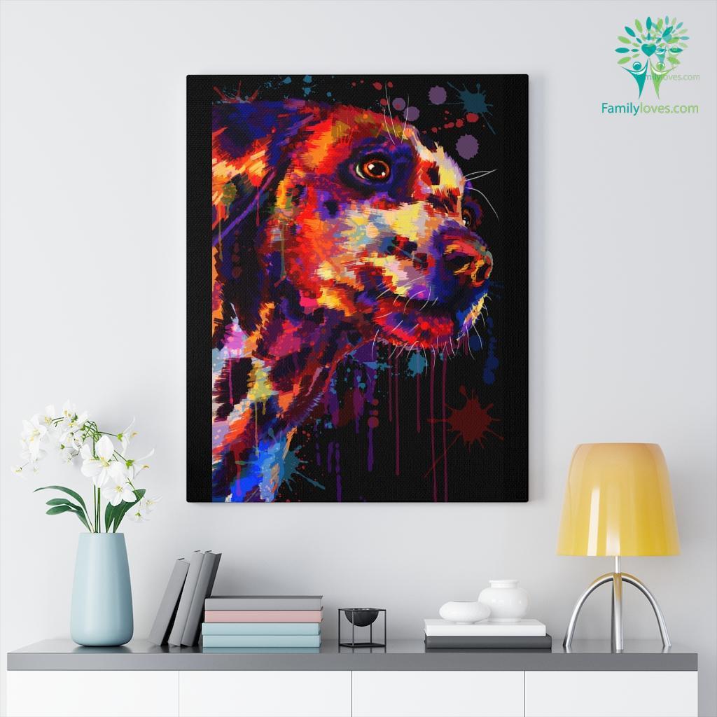Dalmation Dog colorful canvas Familyloves.com
