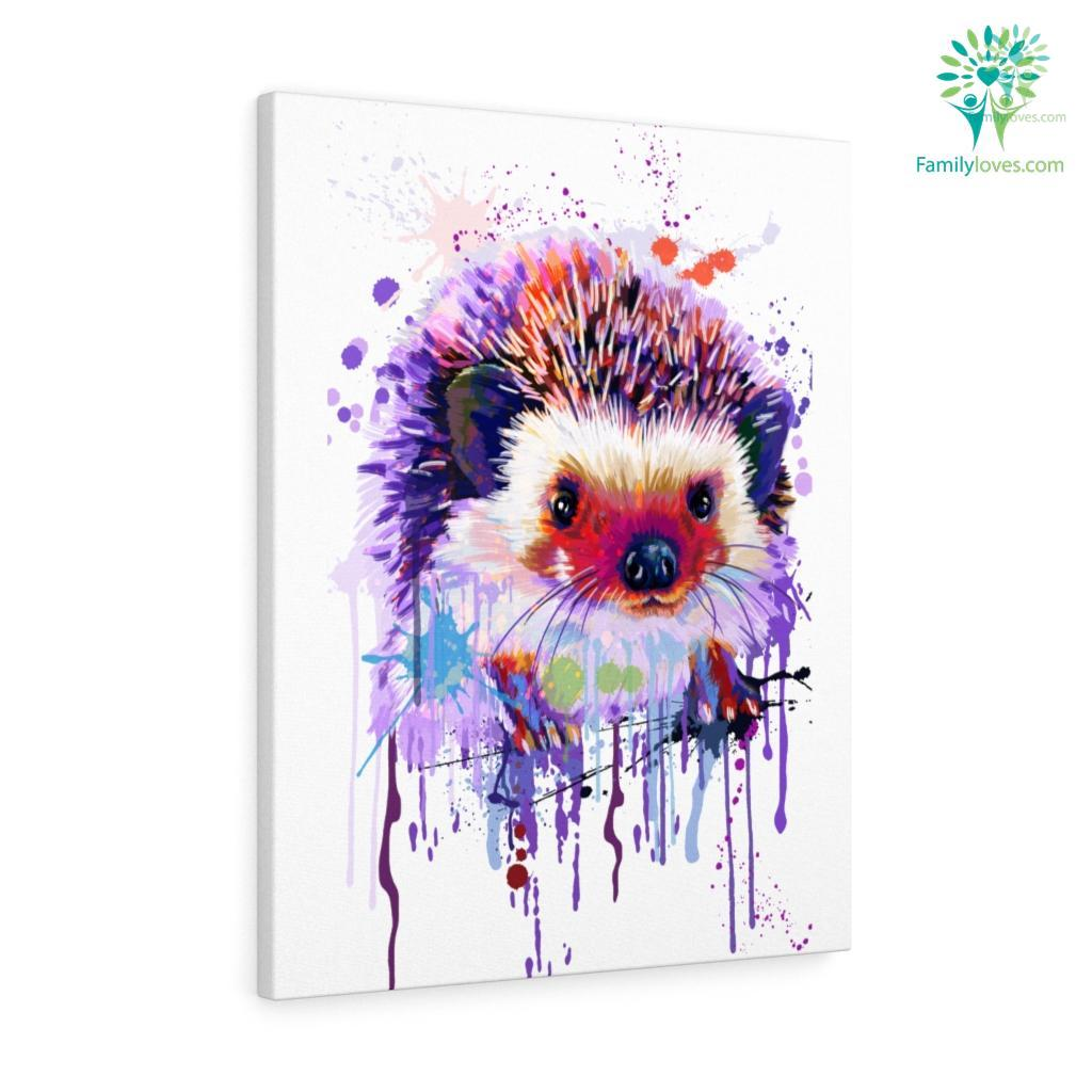 Hedgehog colorful canvas Familyloves.com