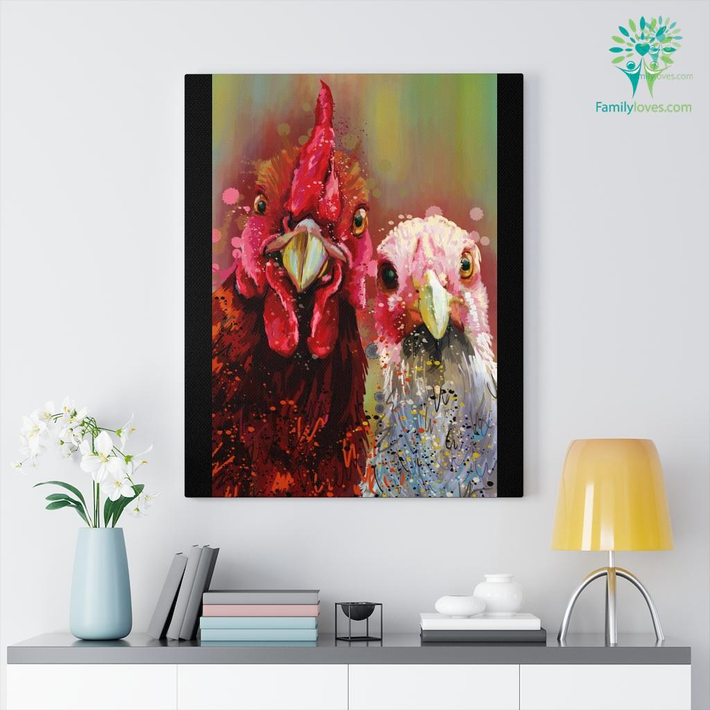 Chicken colorful canvas 5 Familyloves.com