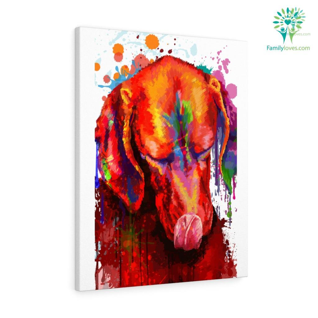 Vizsla Dog colorful canvas 2 Familyloves.com