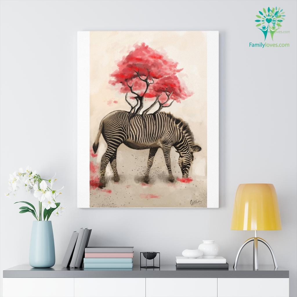 Zebra colorful canvas 1 Familyloves.com