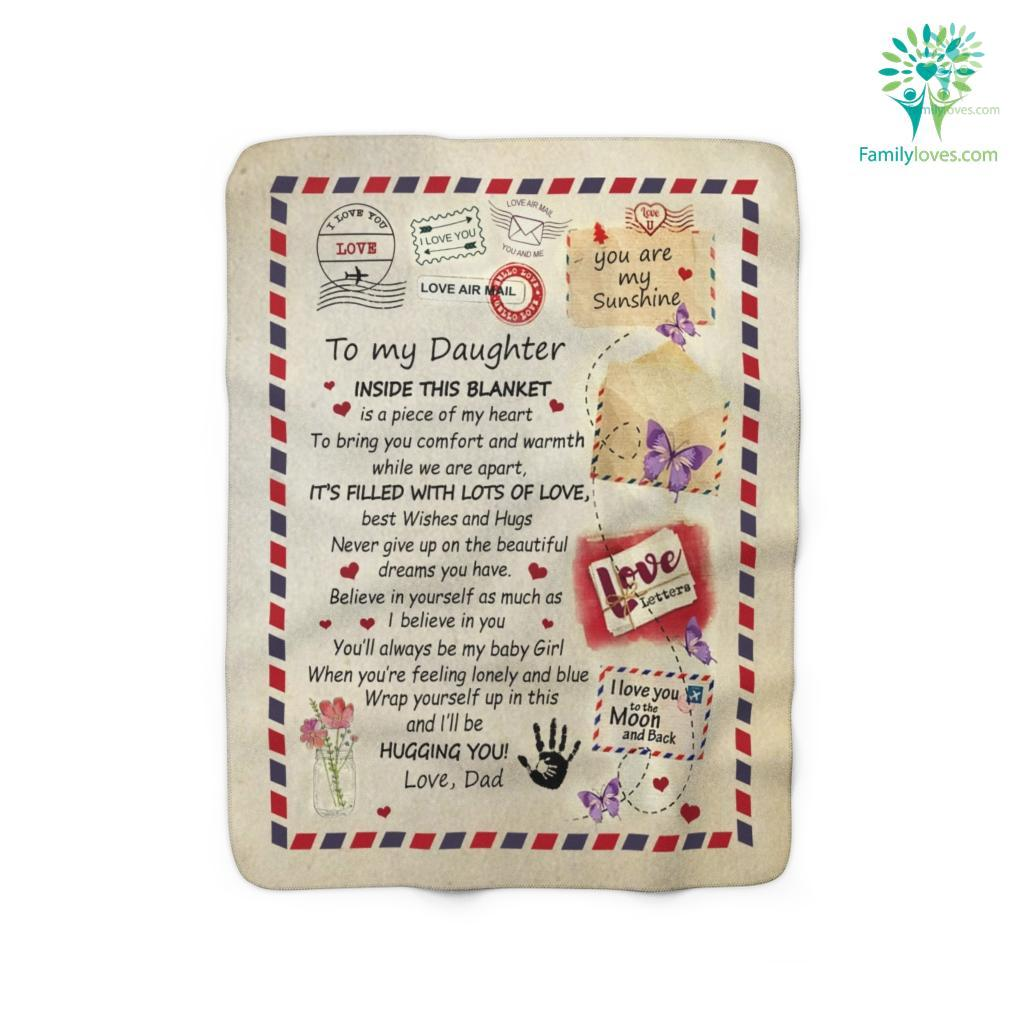 Gift For Daughter Form Dlove Dletter To My Daughter Its Filled With Lots Of Love Fleece S Iobnh Sherpa Fleece Blanket Familyloves.com