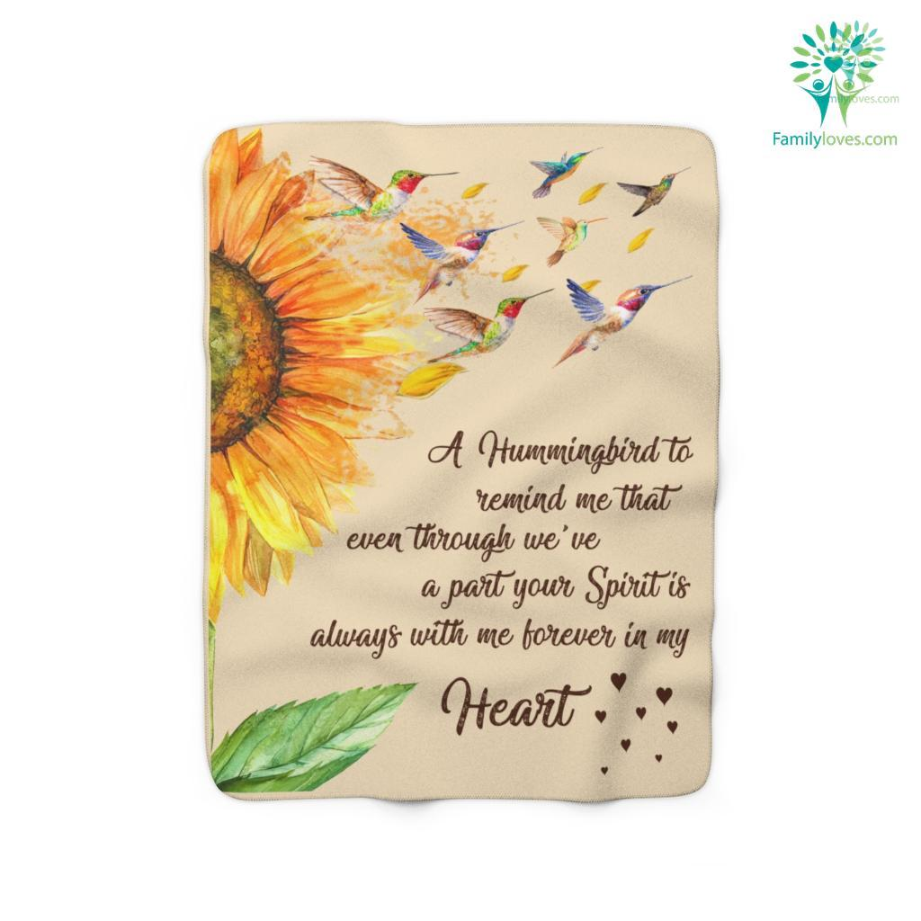 A Hummingbird To Remind Me That Eventhrough Heart Sherpa Fleece Blanket Familyloves.com