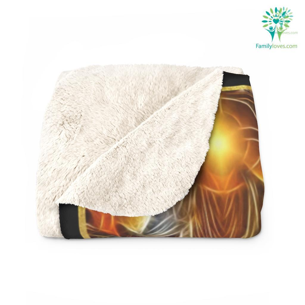 Be Strong And Courageous Do Not Be Afraid Or Troubled Black Woman Sherpa Fleece Blanket Familyloves.com