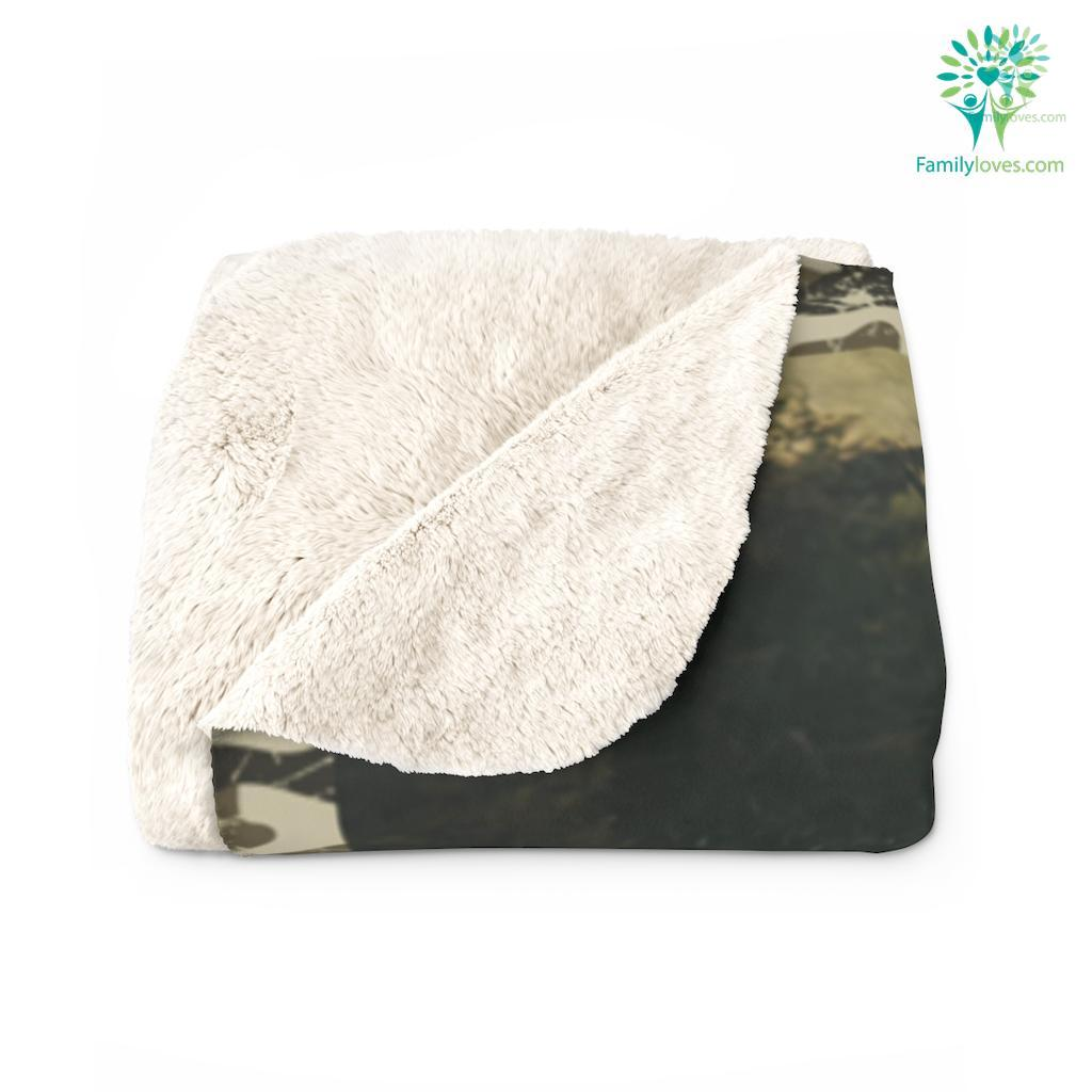 Gift For Son From Ddeer Hunting Father And Son Gift Iobnh Sherpa Fleece Blanket Familyloves.com