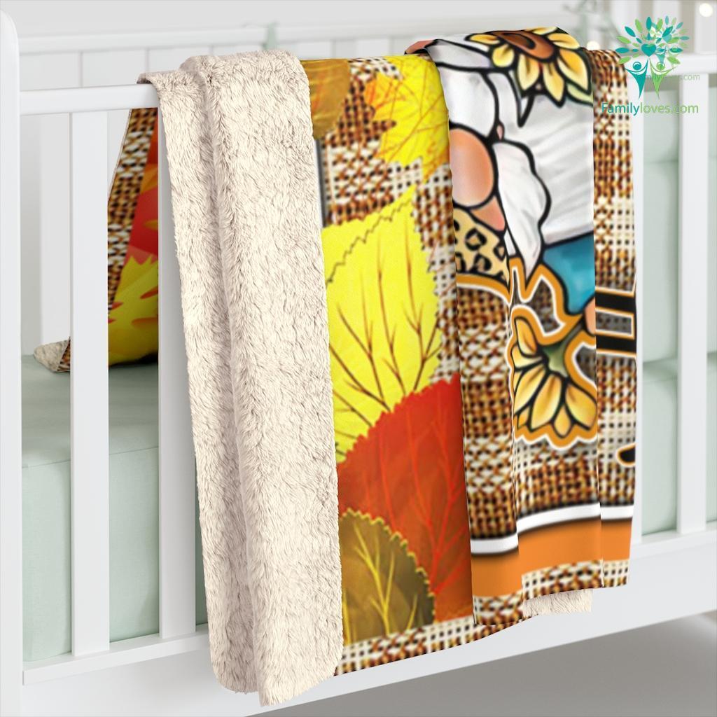 Happy Fall Yall Sherpa Fleece Blanket Familyloves.com