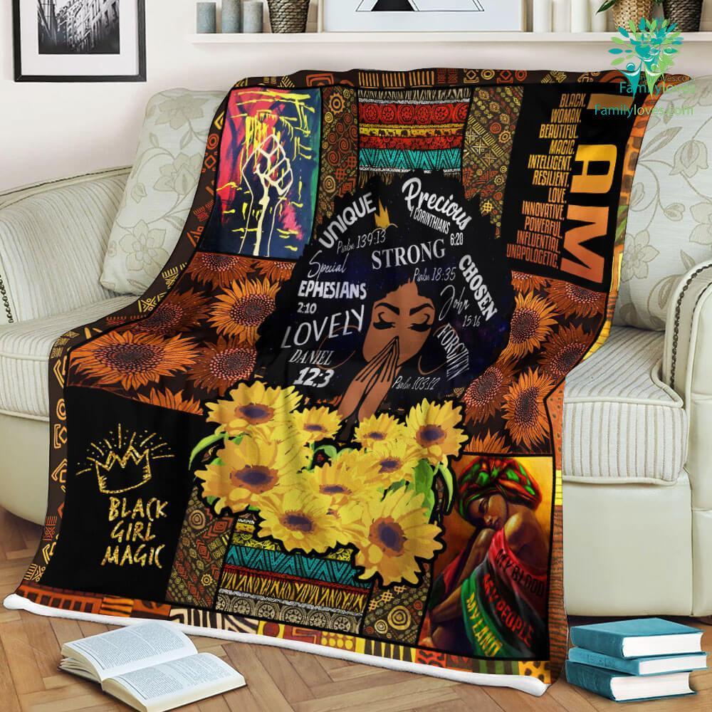 Black Live Matter Black Woman For Sale Sherpa Fleece Blanket Familyloves.com