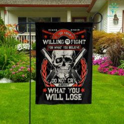 Gun Control Willing To Fight Garden Flag  Garden Flag- Nichefamily.com