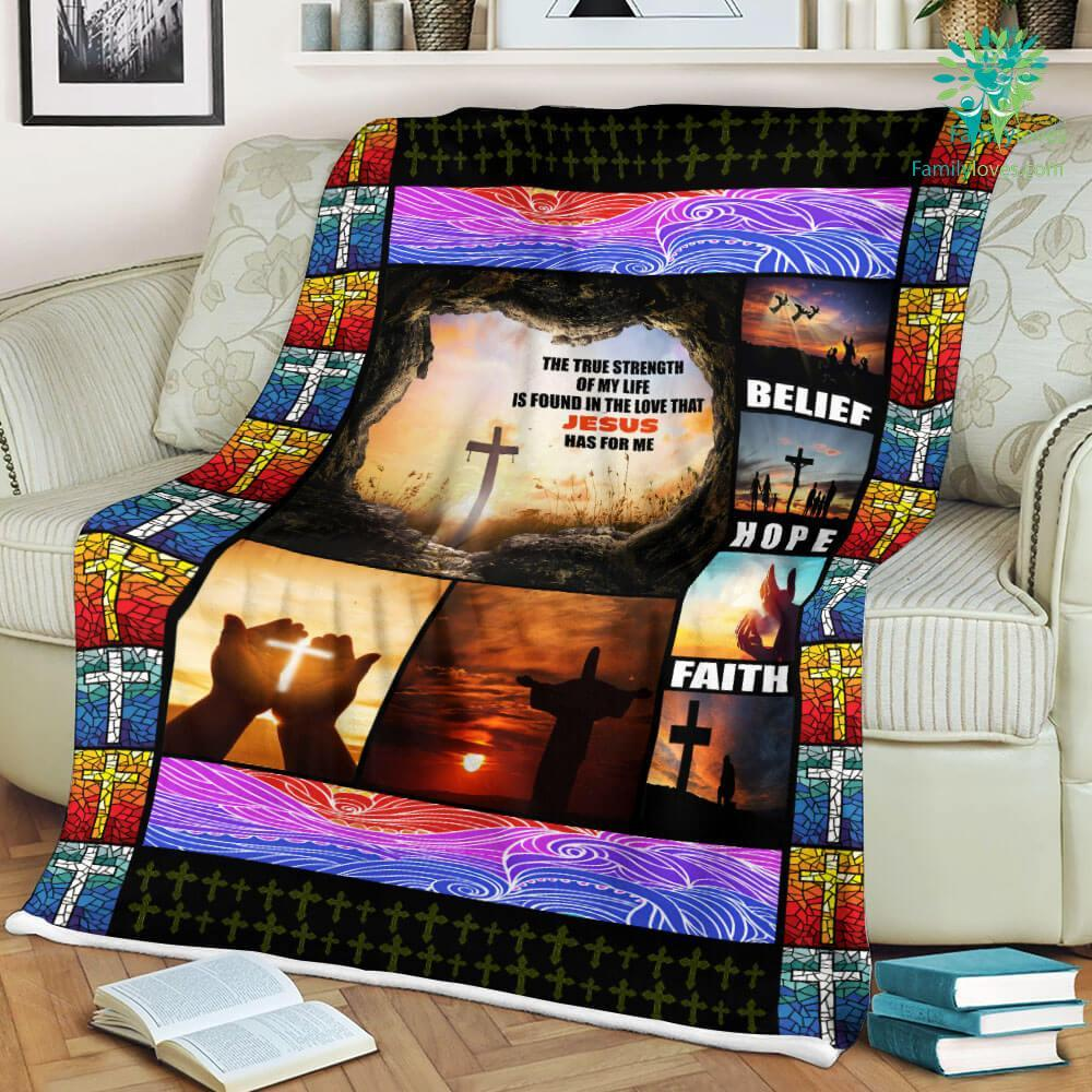 I Love Jesus Sherpa Fleece Blanket Familyloves.com