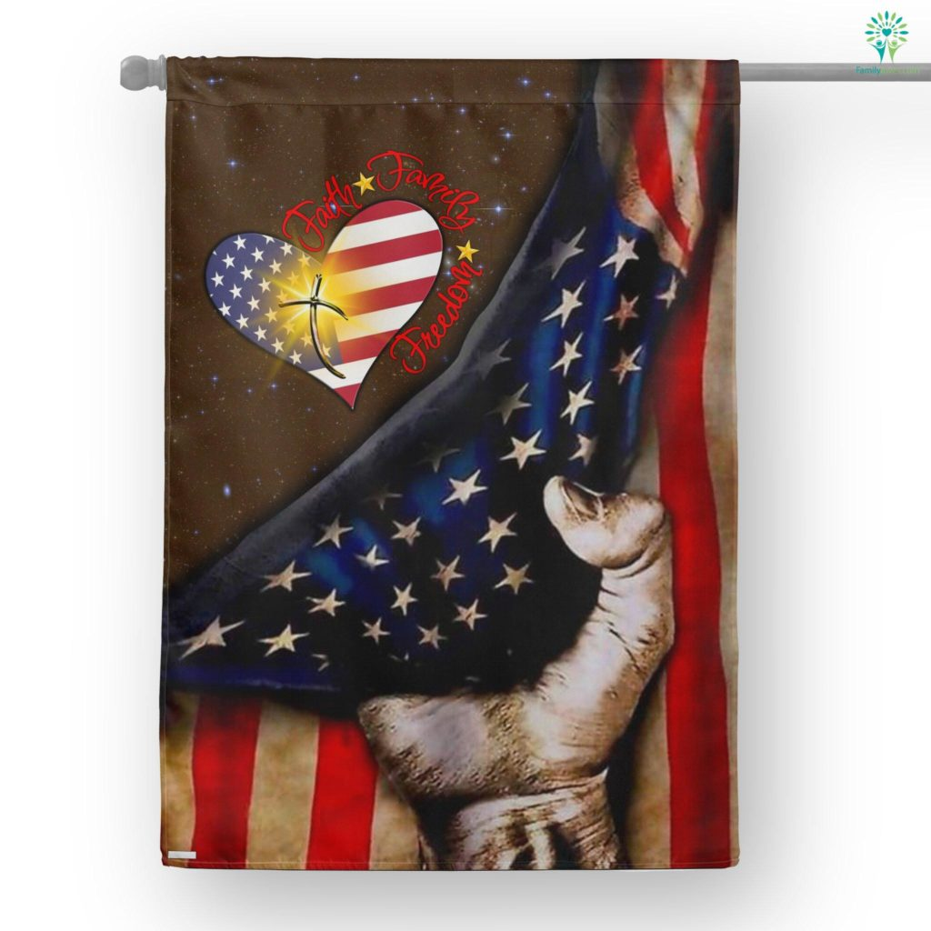 Faith Family Freedom American House Flag  House Flag- Nichefamily.com