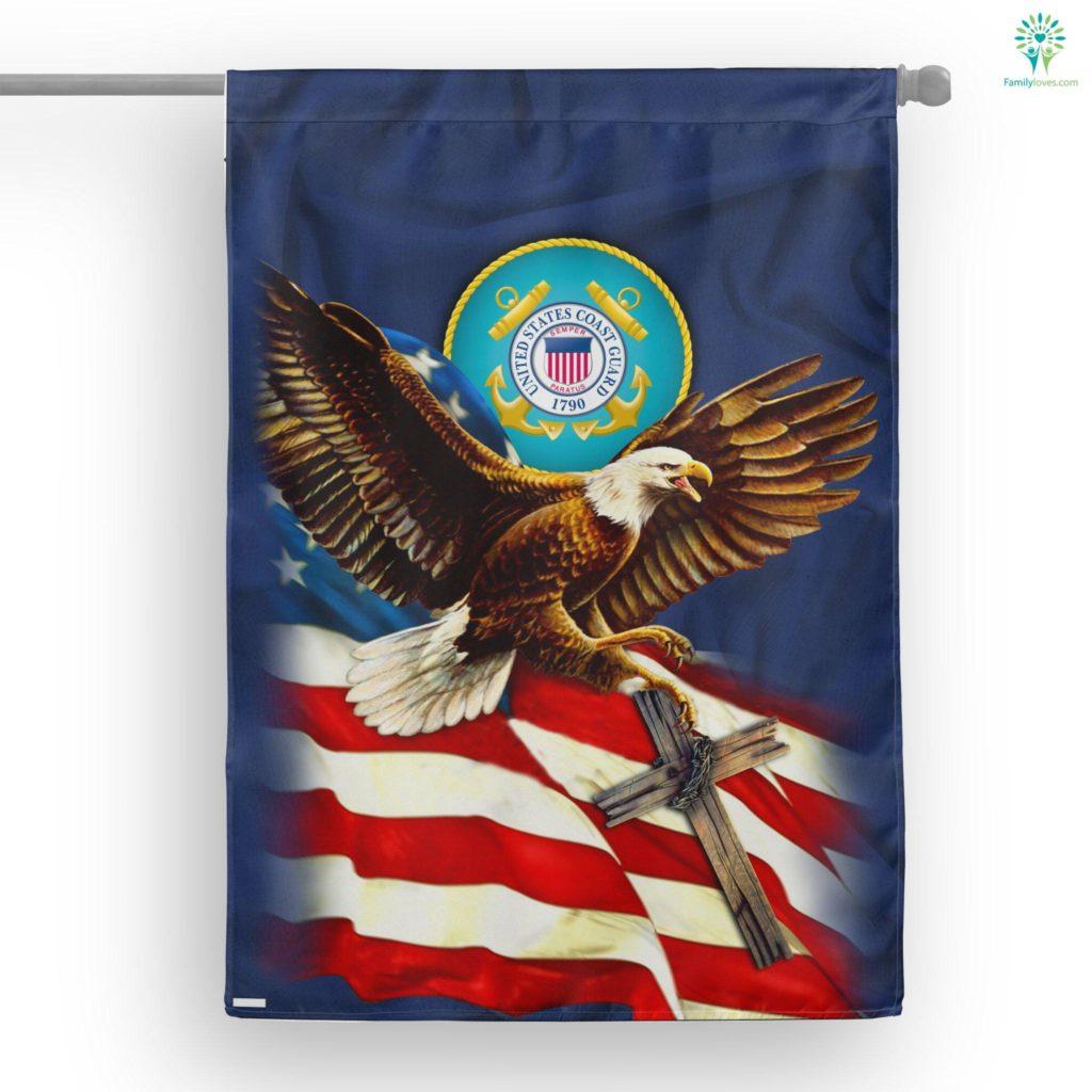 United States Coast Guard American Eagle House Flag Familyloves.com
