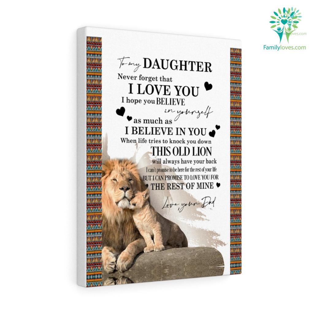 Lion To My Daughter Love Dad Canvas Familyloves.com