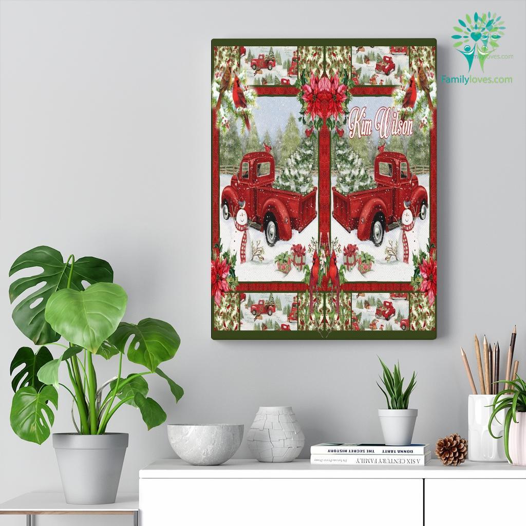 Nov Htth Red Truck Cardinals Christmas Ihtlht Canvas Familyloves.com