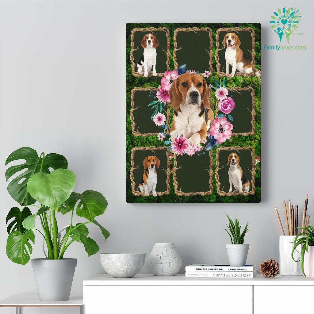 Beagle Dog Canvas Familyloves.com