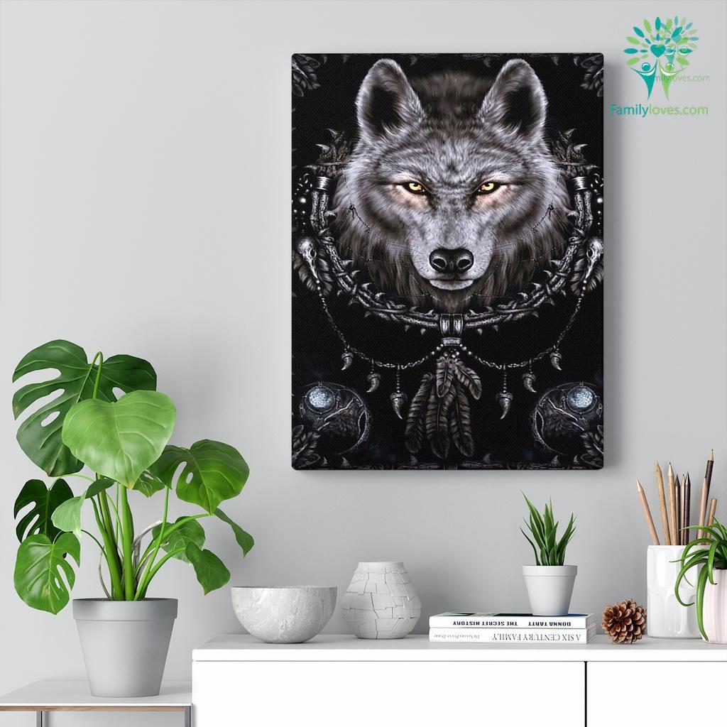 Black Wolf Canvas Familyloves.com