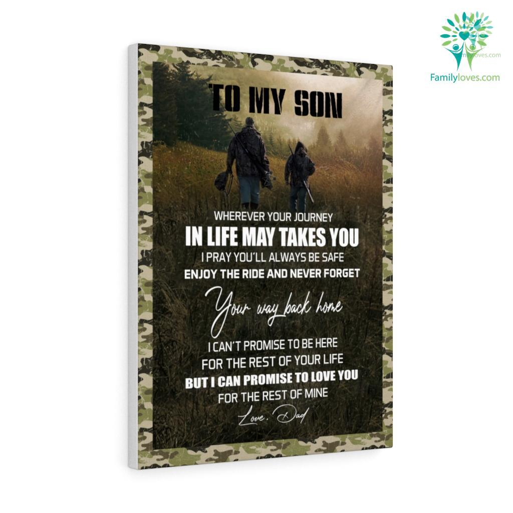Gift For Son From Ddeer Hunting Father And Son Gift Iobnh Canvas Familyloves.com