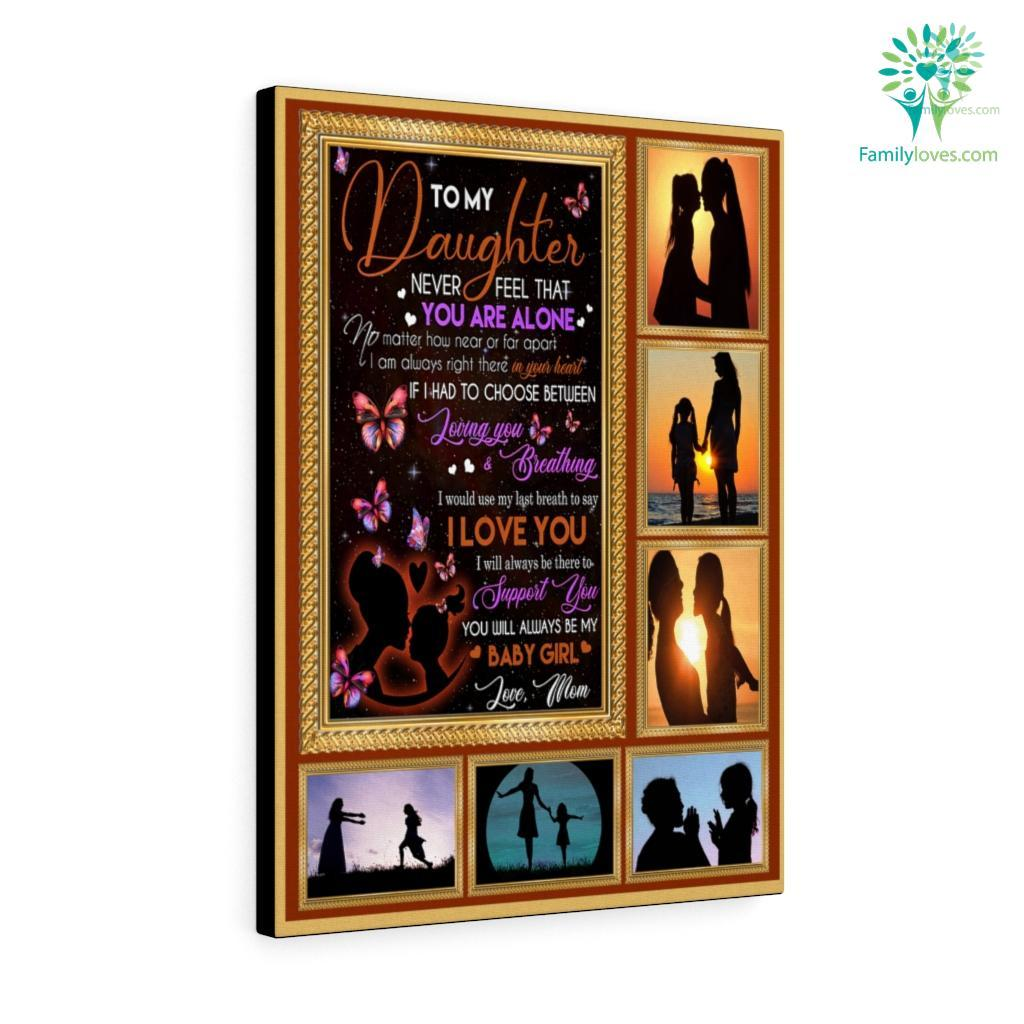 B To My Daughter In Law Canvas Familyloves.com