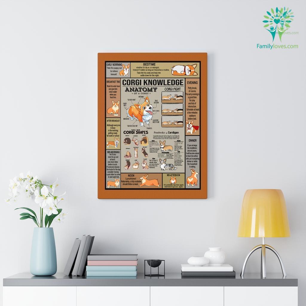 Corgi Knowledge Anatomy Canvas Familyloves.com