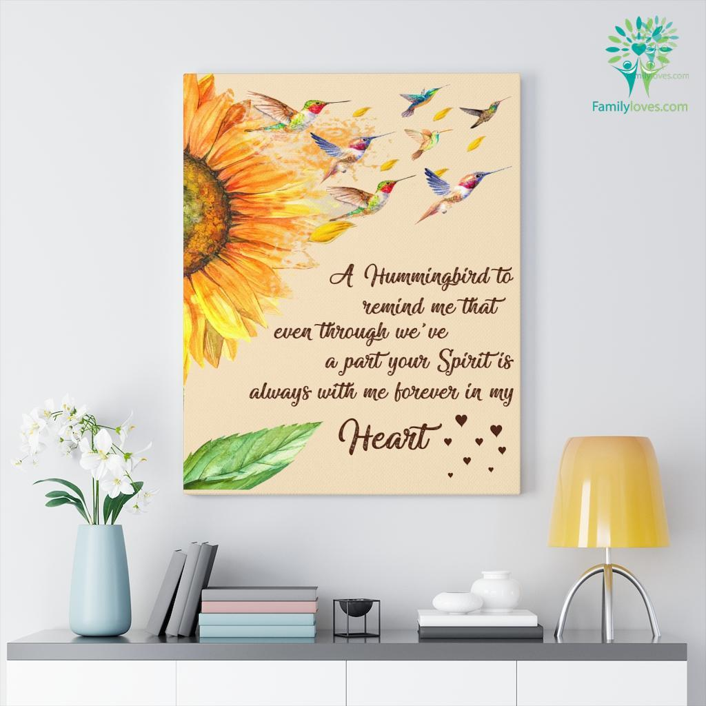 A Hummingbird To Remind Me That Eventhrough Heart Canvas Familyloves.com
