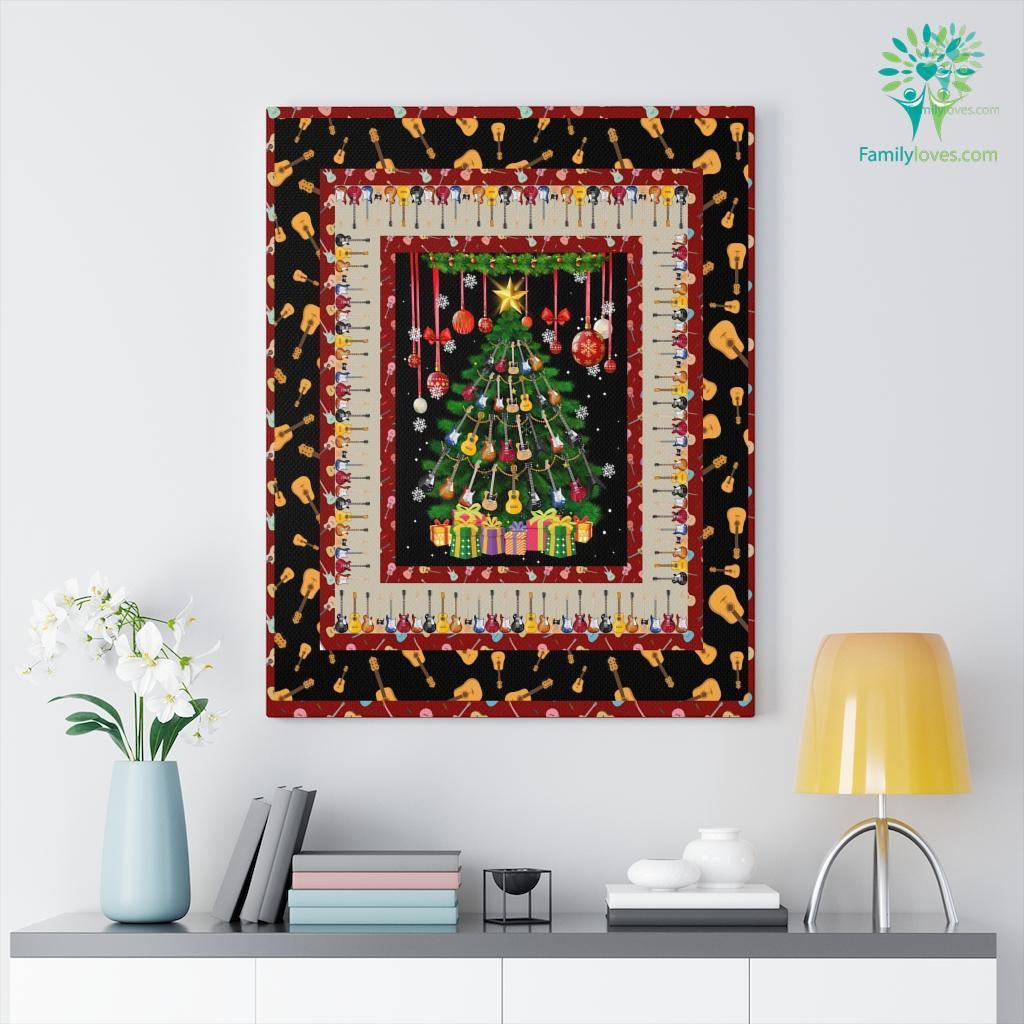 Guitar Christmas Dtc Canvas Familyloves.com