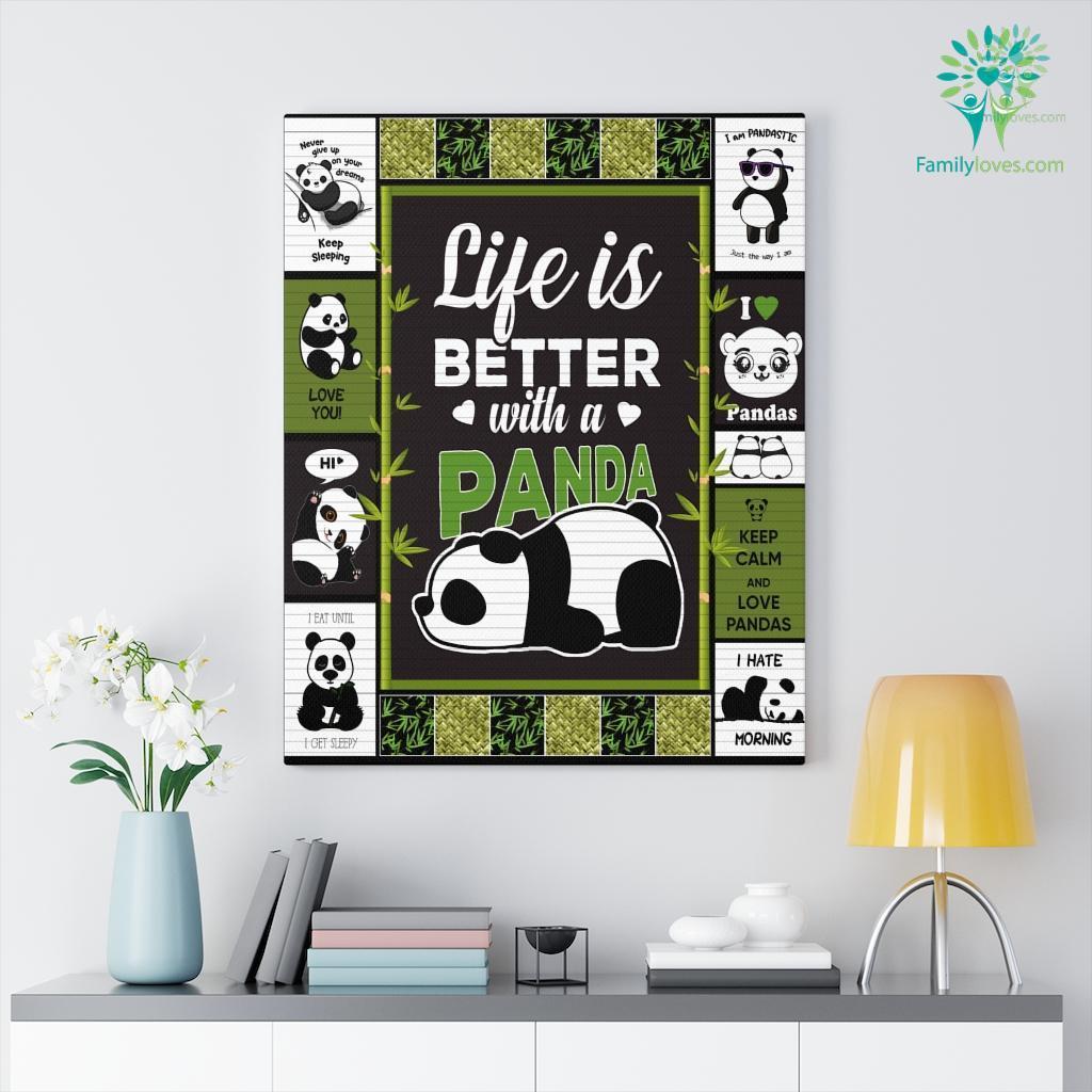 Panda Canvas Familyloves.com