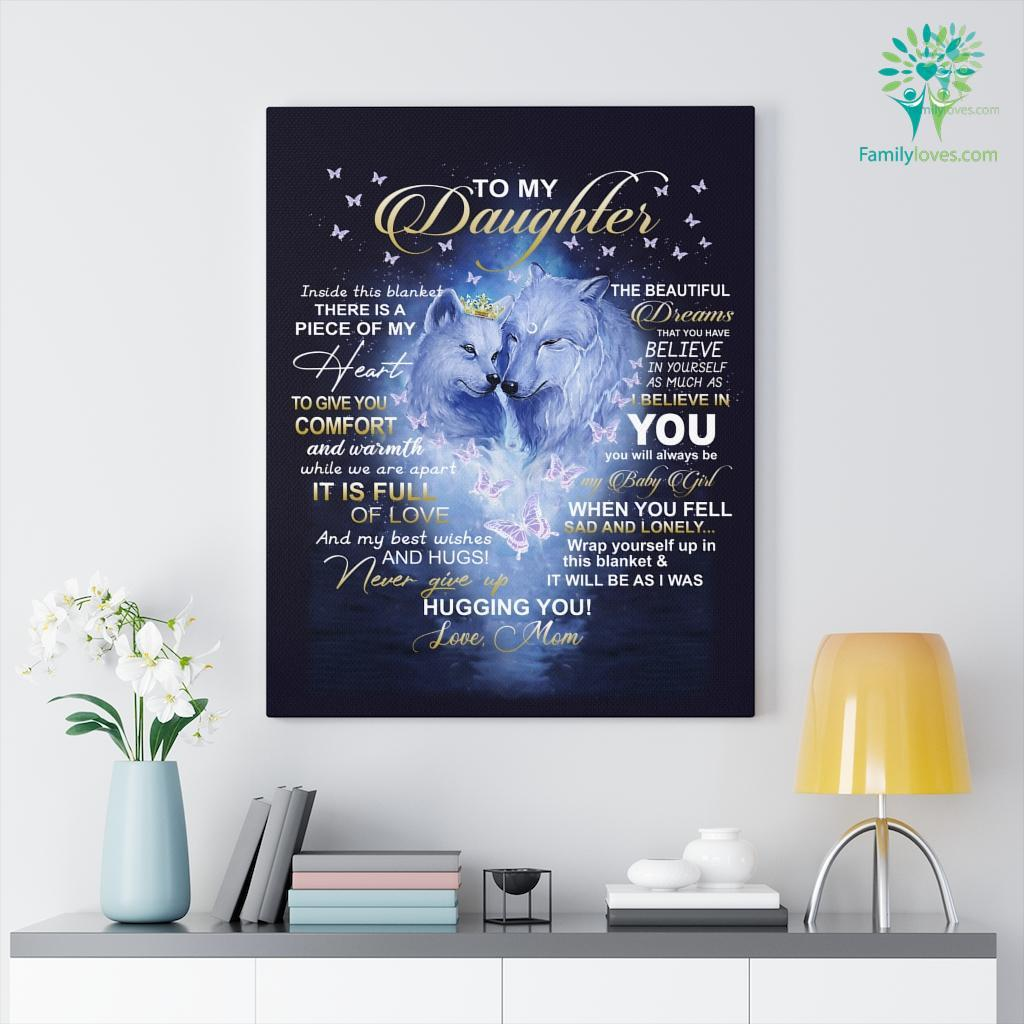 To My Daughter Fox Inside This Love Mom Canvas Familyloves.com