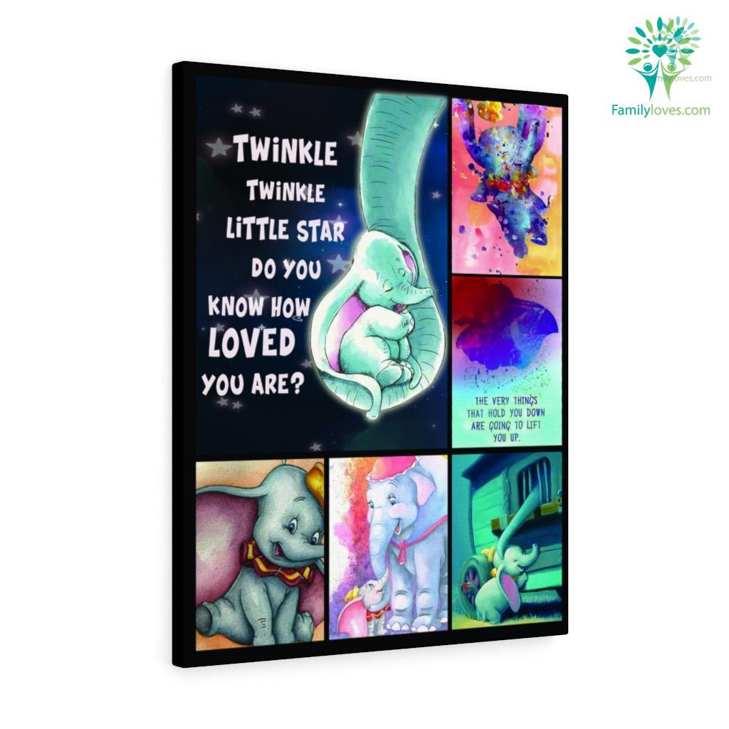 Twinkle Twinkle Little Star Dumbo And Mom Elephant Fleb Canvas Familyloves.com