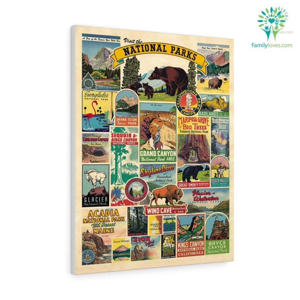 Visit National Parks Canvas Familyloves.com