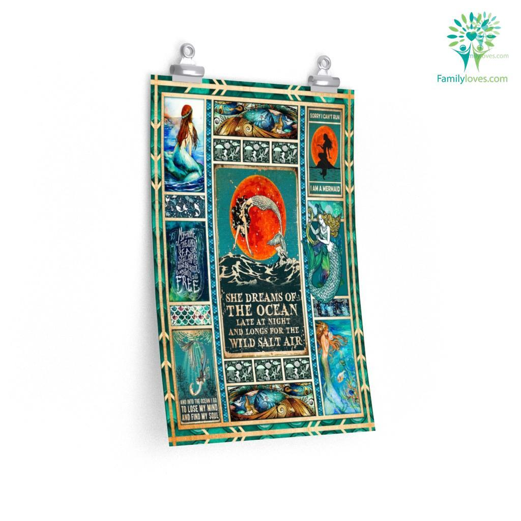 She Dreams Of The Ocean Late At Night And Longs For The Wild Salt Air Posters Familyloves.com