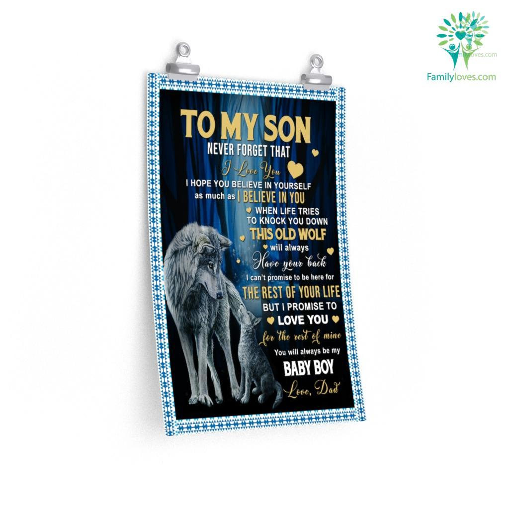 To My Son Never Forget That I Love You Posters Familyloves.com