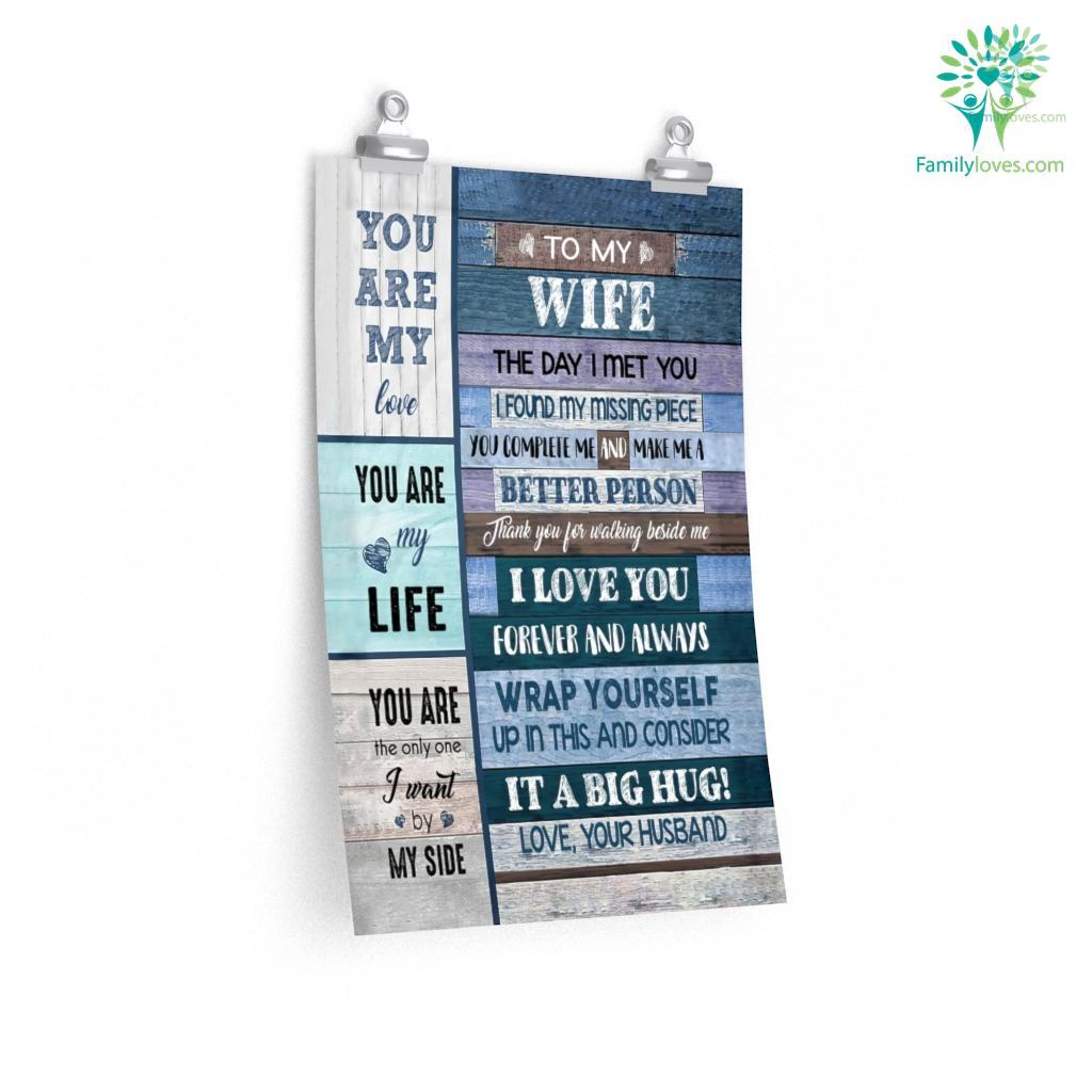 To My Wife Letter The Day I Met You Gift For Wife Posters Familyloves.com
