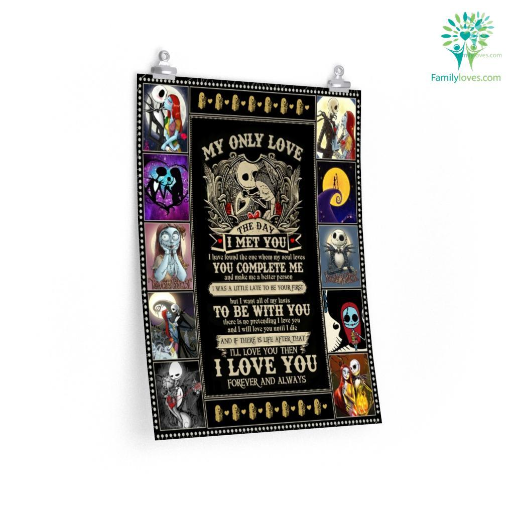 My Only Love The Day I Met You Nightmare Before Christmas Posters Familyloves.com