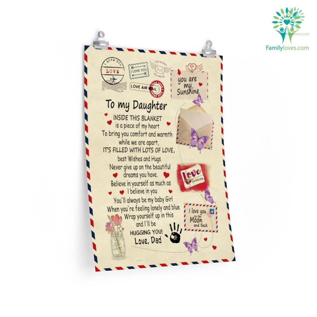 To My Daughter Inside This Love Dad Posters Familyloves.com